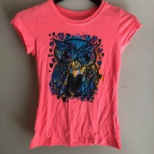 Girls owl tee shirt